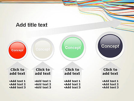 Waving Colored Stripes PowerPoint Template Slide 13