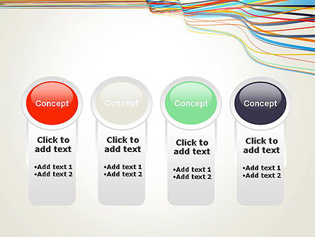 Waving Colored Stripes PowerPoint Template Slide 5