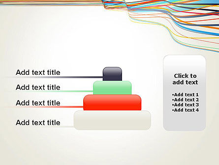 Waving Colored Stripes PowerPoint Template Slide 8