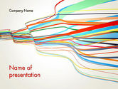 Abstract/Textures: Waving Colored Stripes PowerPoint Template #13147