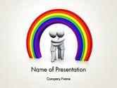 3D: LGBT PowerPoint Template #13149