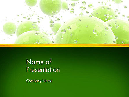 Green Balls Abstract PowerPoint Template