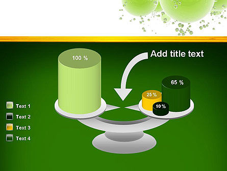 Green Balls Abstract PowerPoint Template Slide 10