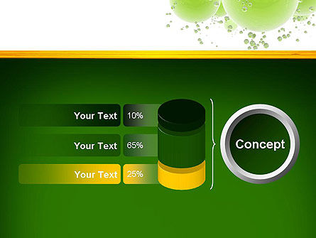 Green Balls Abstract PowerPoint Template Slide 11