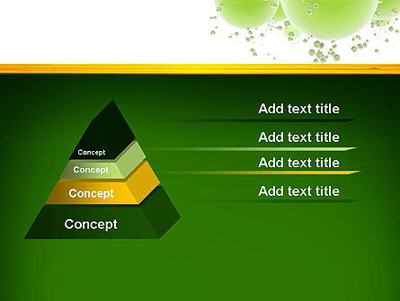 Green Balls Abstract PowerPoint Template Slide 12