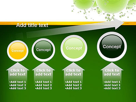 Green Balls Abstract PowerPoint Template Slide 13