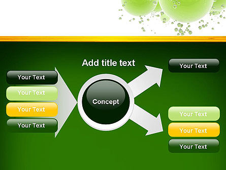 Green Balls Abstract PowerPoint Template Slide 14