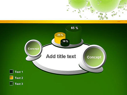 Green Balls Abstract PowerPoint Template Slide 16