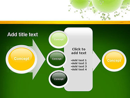 Green Balls Abstract PowerPoint Template Slide 17
