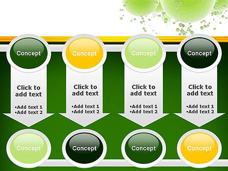 Green Balls Abstract PowerPoint Template Slide 18