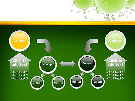 Green Balls Abstract PowerPoint Template Slide 19