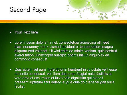 Green Balls Abstract PowerPoint Template Slide 2