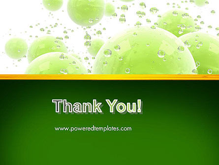 Green Balls Abstract PowerPoint Template Slide 20