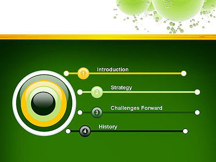 Green Balls Abstract PowerPoint Template Slide 3