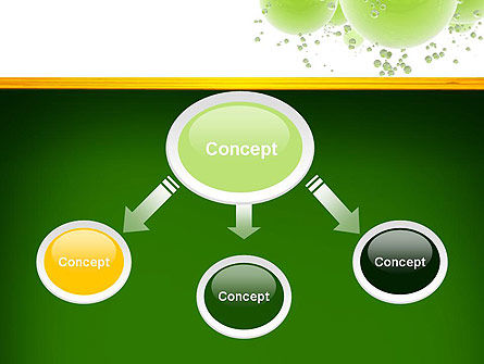 Green Balls Abstract PowerPoint Template Slide 4