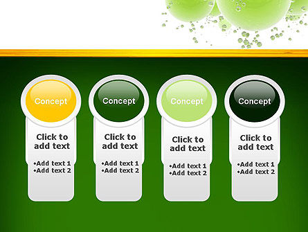 Green Balls Abstract PowerPoint Template Slide 5