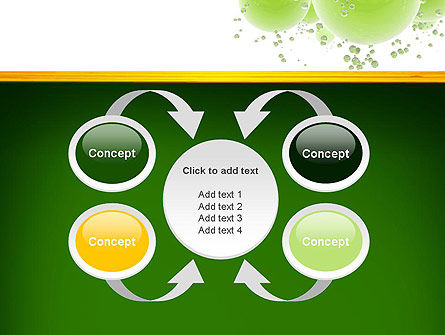 Green Balls Abstract PowerPoint Template Slide 6