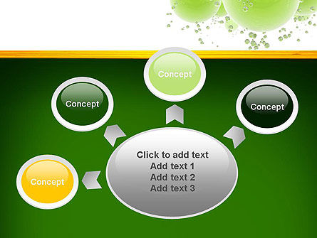 Green Balls Abstract PowerPoint Template Slide 7