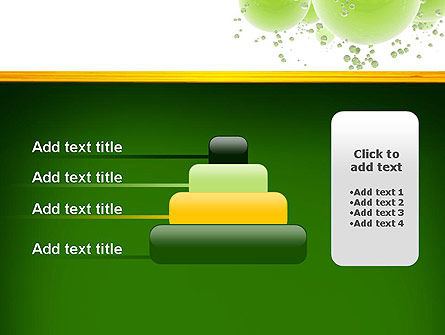 Green Balls Abstract PowerPoint Template Slide 8