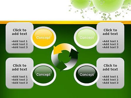Green Balls Abstract PowerPoint Template Slide 9