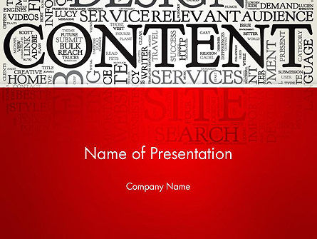 Content Word Cloud PowerPoint Template, 13154, Careers/Industry — PoweredTemplate.com