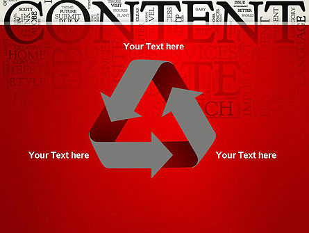 Content Word Cloud PowerPoint Template Slide 10