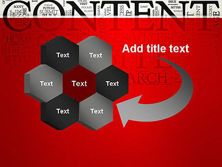 Content Word Cloud PowerPoint Template Slide 11