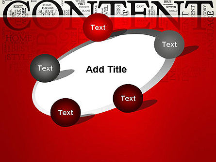 Content Word Cloud PowerPoint Template Slide 14