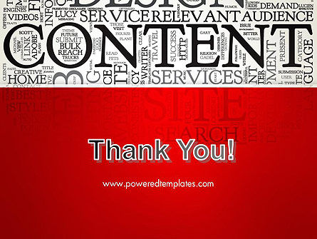 Content Word Cloud PowerPoint Template Slide 20