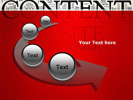 Content Word Cloud PowerPoint Template Slide 6