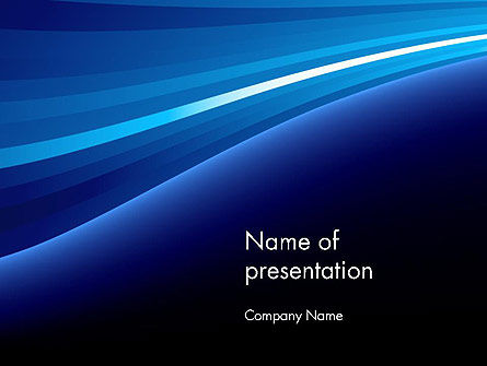 Outgoing Waves Abstract PowerPoint Template
