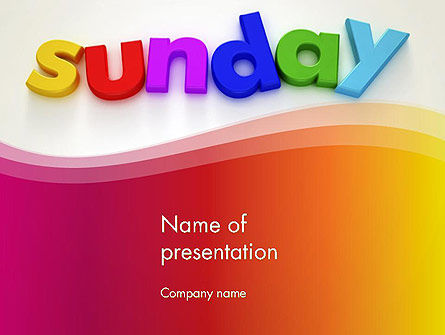 Sunday PowerPoint Template, 13156, Holiday/Special Occasion — PoweredTemplate.com