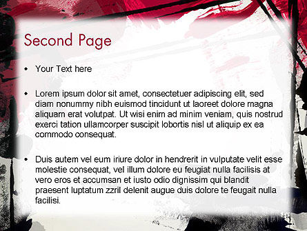Abstract Art Page Border PowerPoint Template Slide 2