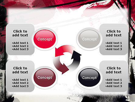 Abstract Art Page Border PowerPoint Template Slide 9