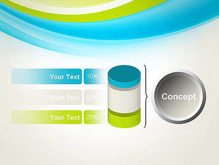 Bright Green and Blue Waves PowerPoint Template Slide 11