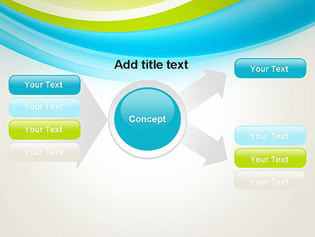 Bright Green and Blue Waves PowerPoint Template Slide 14