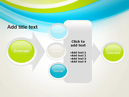 Bright Green and Blue Waves PowerPoint Template Slide 17