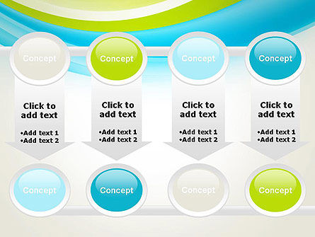 Bright Green and Blue Waves PowerPoint Template Slide 18