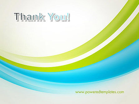 Bright Green and Blue Waves PowerPoint Template Slide 20
