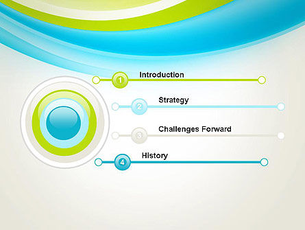 Bright Green and Blue Waves PowerPoint Template Slide 3