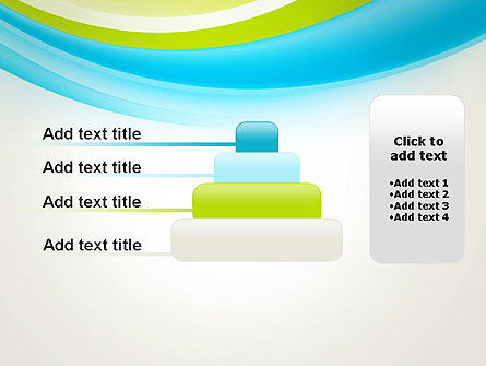 Bright Green and Blue Waves PowerPoint Template Slide 8
