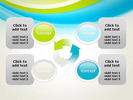 Bright Green and Blue Waves PowerPoint Template Slide 9