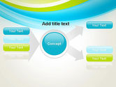 Bright Green and Blue Waves PowerPoint Template#14