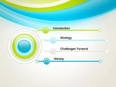 Bright Green and Blue Waves PowerPoint Template#3