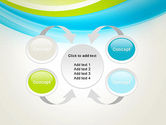 Bright Green and Blue Waves PowerPoint Template#6