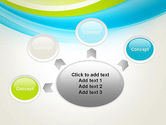 Bright Green and Blue Waves PowerPoint Template#7