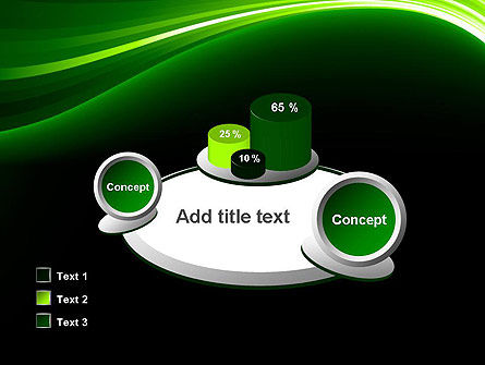 Green Waves on Black PowerPoint Template Slide 16