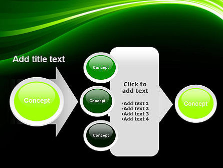 Green Waves on Black PowerPoint Template Slide 17