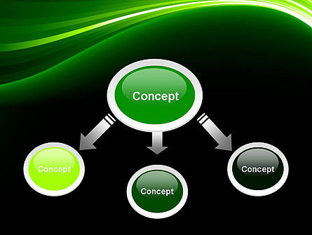 Green Waves on Black PowerPoint Template Slide 4