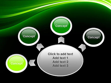 Green Waves on Black PowerPoint Template Slide 7